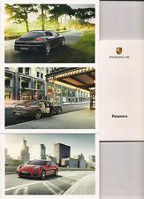 panamera porsche serie 7 cartoline+box da collezione: 7 postcards+ box