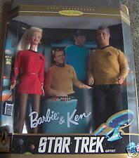 STAR TREK GIFTSET 1996 CE BARBIE & KEN   NRFB!! MINT!!