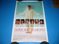 I LOVE YOU TO DEATH Movie ORIG Poster KEVIN KLINE River Phoenix KEANU REEVES