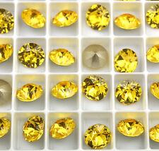 6 Light Topaz 1088 Swarovski Crystal Chaton Stone SS39 Foiled 8MM