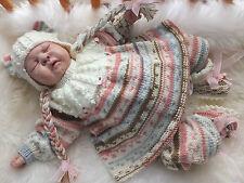 Tejer patrón Para Hacer * Thursday's Child * Juego De Cables Para Bebé O Muñeca Reborn