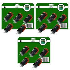 15 Schwarz C550 Tintenpatronen Für Canon MG5450 MG5550 MG5650 MG6350 Nicht-OEM