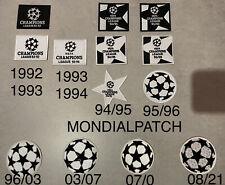 patch toppa Champions calcio pallone 1992-2021 No Maglia Vari Anni