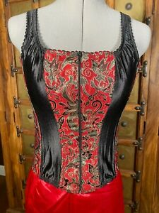 """Vintage Fredericks of Hollywood corset bustier size 34 for a 26- 30"""" waist"""