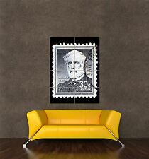 POSTER PRINT POSTAGE STAMP GENERAL ROBERT E LEE 30 THIRTY CENTS USA PAMP055