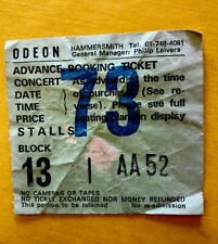 MOTORHEAD TICKET STUB - 22 September 1986 - Hammersmith Odeon London - Very Rare