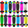 "New Skateboard Colours 22"" Cruiser Board Abec 7 Wheels Skate Board Complete Deck"