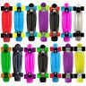 "New Skateboard Colours 22"" Cruiser Board Abec 7 Wheels Skate Board Complete Deck"