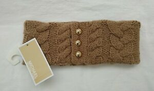 MICHAEL KORS WOMEN'S KNIT CABLE NECK WARMER SCARF, ON SIZE