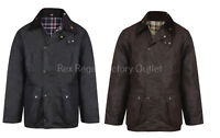 Mens New Unpadded 100% Wax Cotton Jacket Medium Weight Wax Coat UK MADE Premium