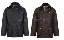Mens New Unpadded 100% Wax Cotton Jacket Medium Weight Wax Coat UK MADE Premium