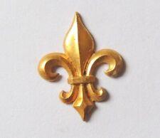 Ancien Ornement Applique fleurs de Lys métal doré restauration cadre meuble 2,5c