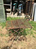 Vintage 1960s Nesting Metal Wire Side Table Outdoor Patio Set Of 3