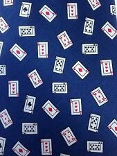 TANGO NOVELTY POKER CASINO CARDS BLUE SILK NECKTIE TIE