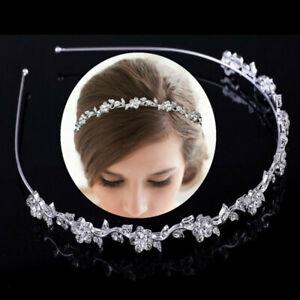 Crystal Rhinestone Wedding Bridal Diamante Crown Tiara Headband Hair Band Clasp
