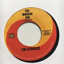 "THE STROKES - MODERN AGE 7"" RECORD 2001 RARE UK RTRADES010 ROUGH TRADE"
