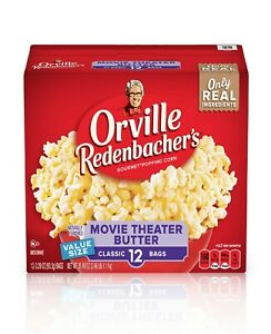 Orville Redenbacher's Movie Theater Butter Microwave Popcorn, 3.29 Oz, 12 Ct