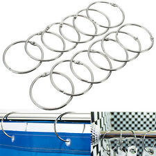 12/6 PCS Stainless Steel Shower Curtain Rings Hooks Bathroom Rod Anti Rust Magic