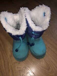 Decathlon Toddlers Blue Snow Boots - Size 6.5c/7.5c Eu 24/25