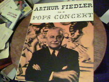 Arthur Fiedler in a Pops Concert with the St. Louis Symphony  program ck10