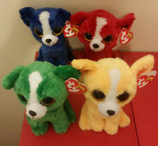 "Ty Beanie Boos Set - DILL, DANDELION, T-BONE & TOMATO Show Exclusive 6"" Dogs NEW"