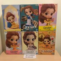 Range Of Official Disney Belle Q Posket Beauty Beast Figurines Banpresto NEW