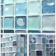 "5.3""/13.4cm Beauty Anti Fungal Waterproof Wall 3D Mosaic Sticker SAMPLE Sea Blue"