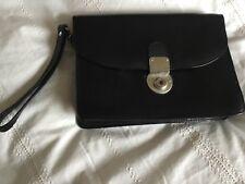 "Proudfoot New Bond Street  London Man clutch bag black leather 9.5 x 7 x 3"""