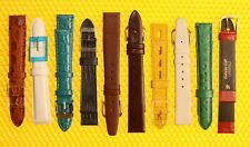 [Lot of 10] 16mm Leather Watch Strap Bands JBC, CRASH <NWoT>