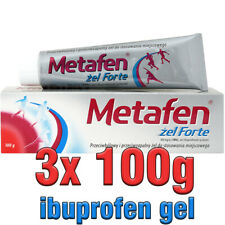 3x METAFEN GEL FORTE 100G ibupofen analgesic antiphlogistic muscles inflammation