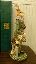 """Rare Fitz & Floyd Old Market Rabbit Male Ornament 18"""" tall w/Original Box"""