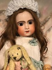 Antique ORIGINAL French PARIS Tete Jumeau Porcelaine Bisque Head doll 73 cm