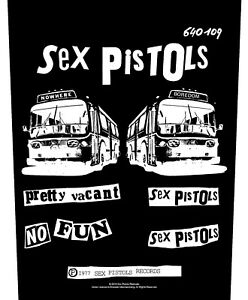 Sex Pistols Pretty Vacant / No Fun  giant sew-on backpatch 360mm x 290mm (rz)