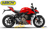 EXHAUSTS MUFFLERS ARROW WORKS TITANIUM END CAP CARBON DUCATI STREETFIGHTER V4