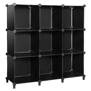 9-Cube Closet Organizer Storage Shelves Cubes Organizer DIY Cabinet Book Shelf