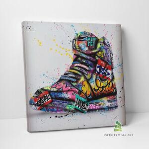 Graffiti AIR FORCE Shoes Canvas Art Wall Art Print Picture Banksy Decor -D87