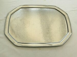 LARGE RECTANGULAR OLD HALL DIMPLED STAINLESS STEEL SERVING TRAY   1650235/237