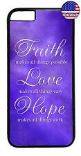 Purple Faith Love & Hope Rubber Case Cover For iPhone 8 7 Plus 6 5 4 X