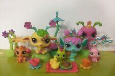 Littlest Pet Shop Bulk x 6 Pink Yellow Fairy Play set Accessories