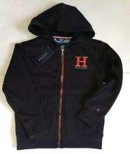 TOMMY HILFIGER Boys Hoodie Full Zip Jacket LOGO