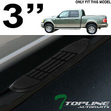 "3"" TUBE BLACK SIDE STEP NERF BARS RUNNING BOARD JL 2001-2003 F150 SUPER CREW CAB"