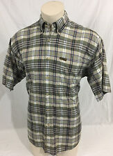Woolrich Original Outdoorwear Green Tan Plaid Button Up Casual Shirt Men's Large
