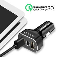 30W Fast Charging Car Charger USB Type-C PD Quick Charger QC 4.0 + USB-A QC 3.0