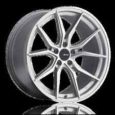 20x8.5 Advanti Racing Hybris 5x120 ET37 Machine Face Silver Wheels (Set of 4)