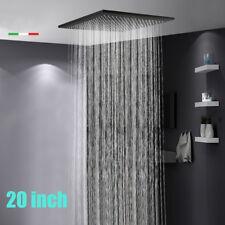 "Ceiling Mounted 20""Oil Rubbed Bronze Shower Head Rain Overhead Shampoo Sprayer1"
