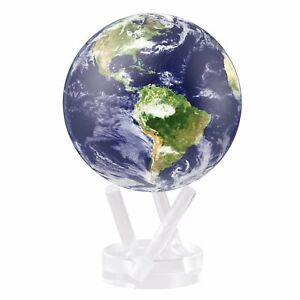 "Earth with Clouds MOVA Globe 4.5"" Solar Power"