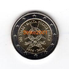 2 EURO COMMEMORATIVO MALTA 2014 Polizia