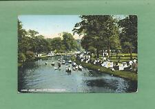COUPLES IN CANOES On CANAL In BELLE ISLE, DETROIT, MI Vintage 1909 Postcard
