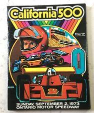 VINTAGE CALIFORNIA 500 ONTARIO MOTOR SPEEDWAY 1973 AUTO RACING PROGRAM BOOKLET