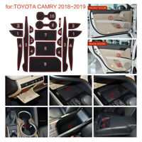 Door Liner Accessories Red For Toyota Camry Custom 2018-2019 Fit Cup Holder